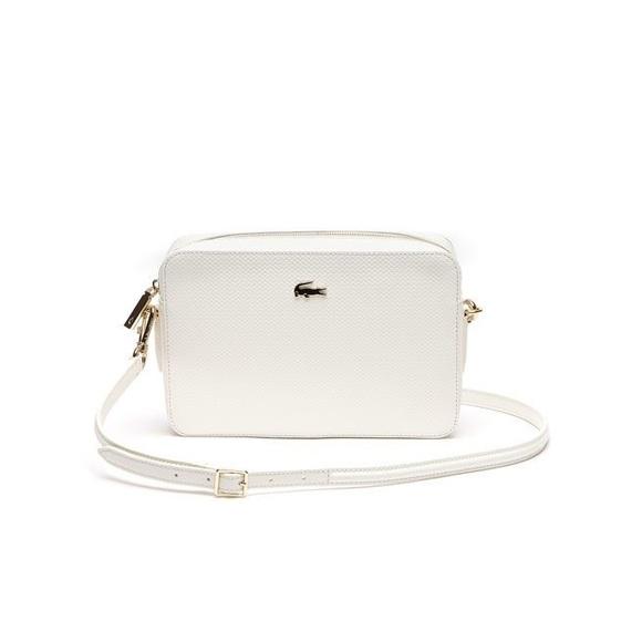 597172aa4ca Lacoste Handbags - Lacoste Chantaco Pique Leather Crossover Bag